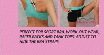 Perfect for sports bra, tank top, and work-out attire